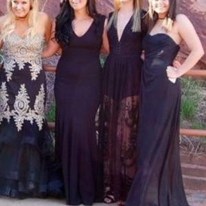 black size 6 prom dress (the one with black hair)
